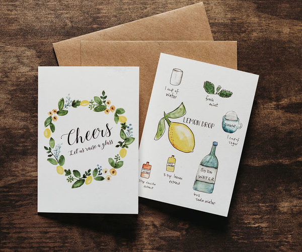 8 mocktail recipe notecards 2