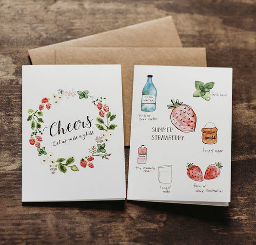 8 mocktail recipe notecards 1