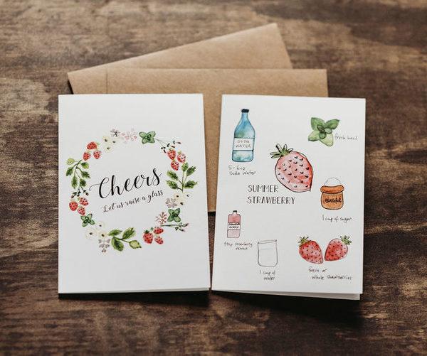 8 mocktail recipe notecards 1